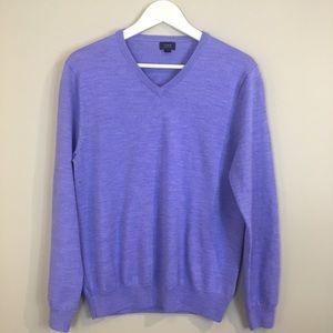 J. Crew Merino wool v neck men's sweater